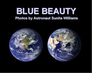 Blue Beauty - Sunita Williams