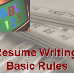 Resume Writing Basic Rules