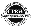 CPRW Certified Professional Resume Writer Professional Association of REsume Writers