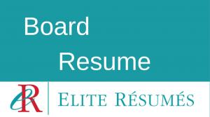 Board Resume