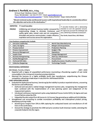 c level page1 resume writing services for professionals