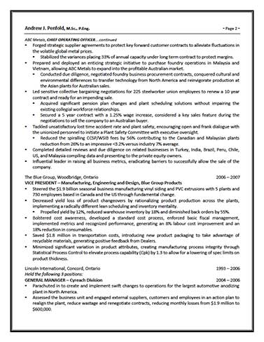 c level page2 resume writing services for professionals