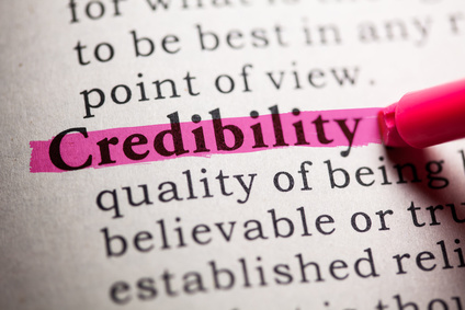 Dictionary definition of the word credibility.