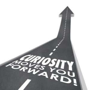 Curiosity Moves You Forward Words Inqusitive Quest Information