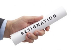 prepare to resign
