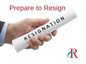 prepare to resign