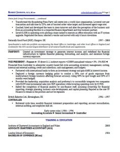 international executive resume p2