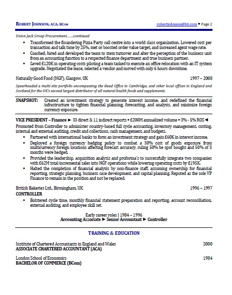 international executive resume p2