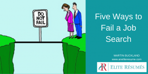 Five Ways to Fail a Job Search