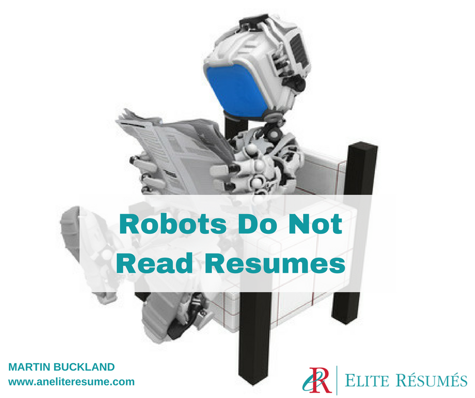 Robots Don T Read Resumes
