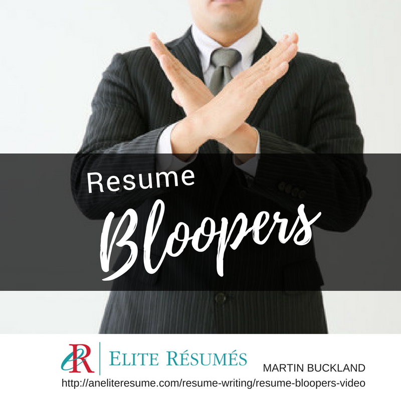 resume bloopers video resume writing services for