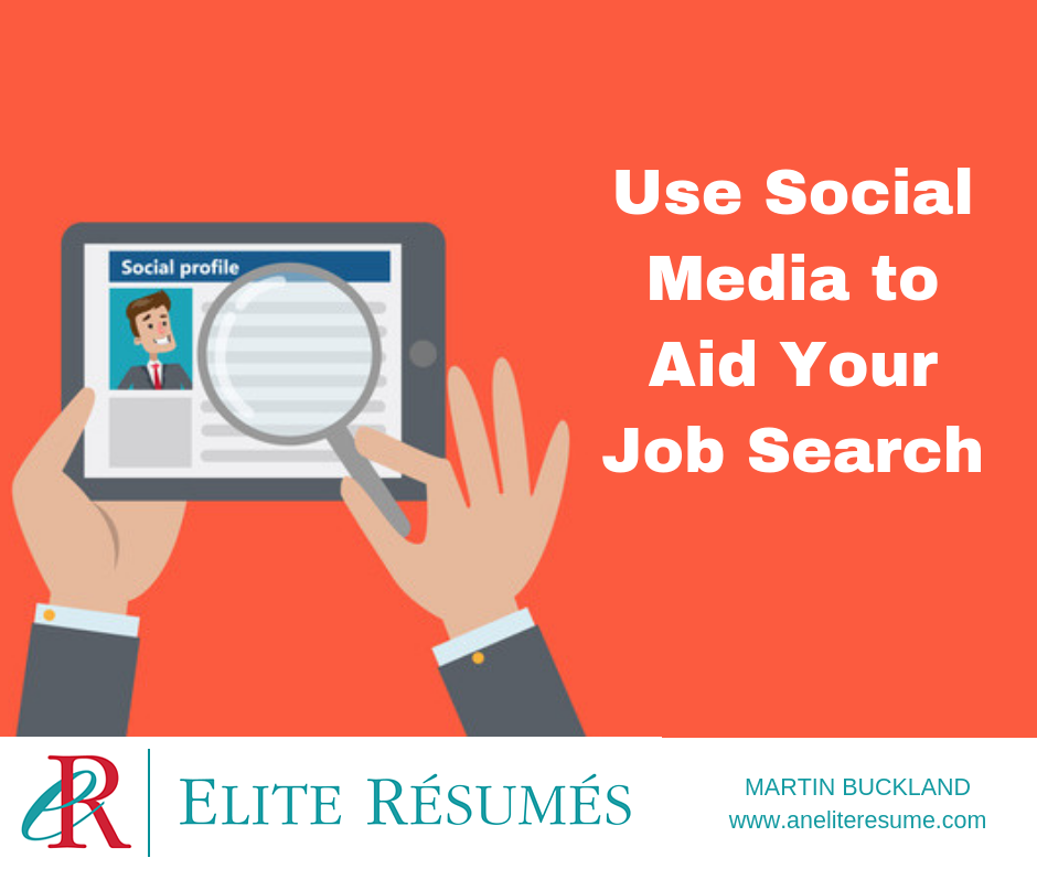use social media to aid your job search