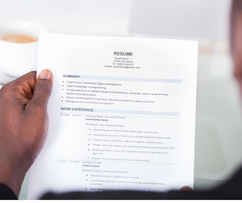 what is the meaning of resume?